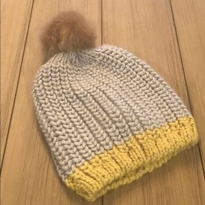 NWT LOFT beanie with poof